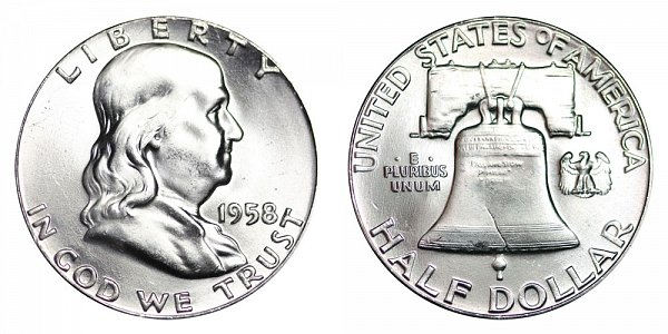 1958 Franklin Silver Half Dollar
