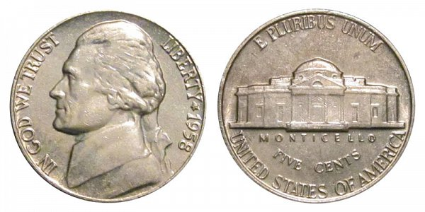 1958 Jefferson Nickel