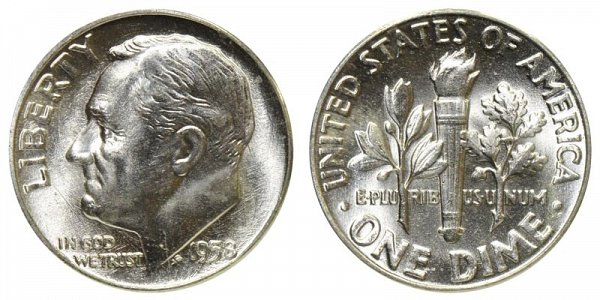 1958 Silver Roosevelt Dime