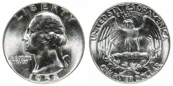 1958 Washington Silver Quarter