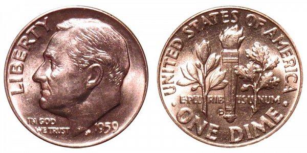 1959 D Silver Roosevelt Dime