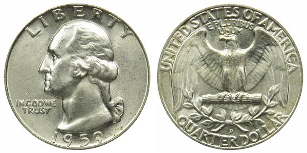 1959 D Washington Silver Quarter