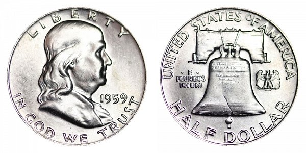 1959 Franklin Silver Half Dollar