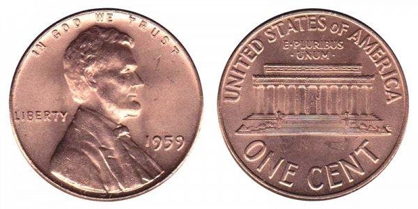 1959 Lincoln Memorial Cent Penny