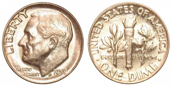 1959 Silver Roosevelt Dime