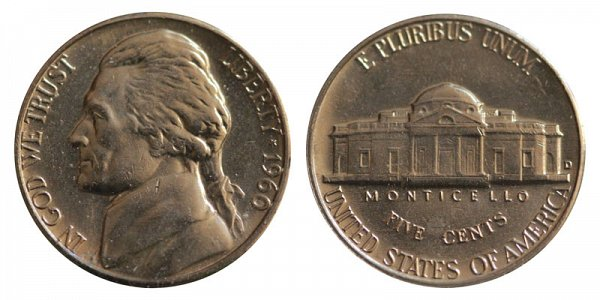 1960 D Jefferson Nickel