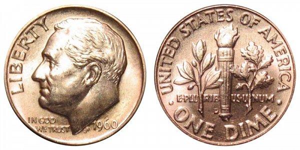 1960 D Silver Roosevelt Dime