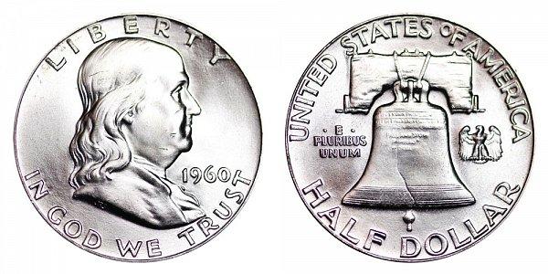 1960 Franklin Silver Half Dollar