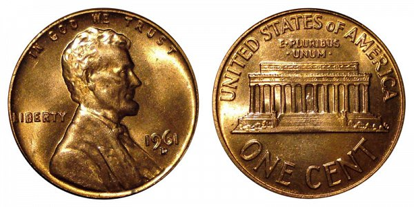 1961 D Lincoln Memorial Cent Penny