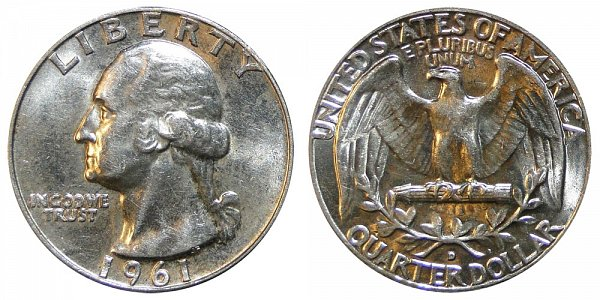 1961 D Washington Silver Quarter