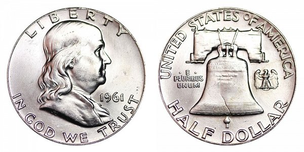 1961 Franklin Silver Half Dollar