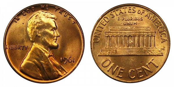1961 Lincoln Memorial Cent Penny