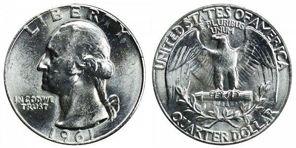 1961 Washington Silver Quarter