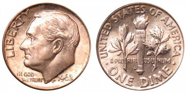 1962 D Silver Roosevelt Dime