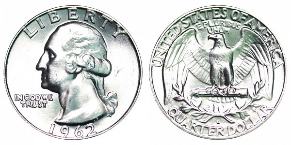 1962 D Washington Silver Quarter