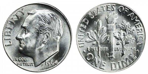 1964 D Silver Roosevelt Dime