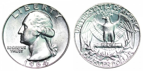 1964 D Washington Silver Quarter