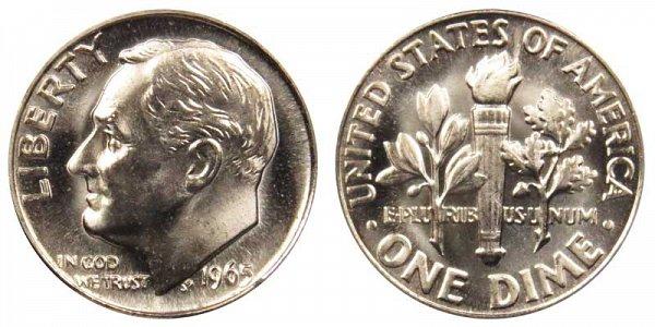 1965 Roosevelt Dime