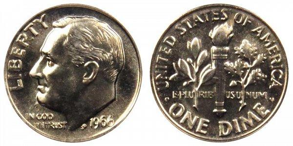 1966 Roosevelt Dime