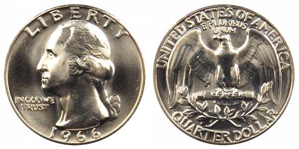 1966 Washington Quarter