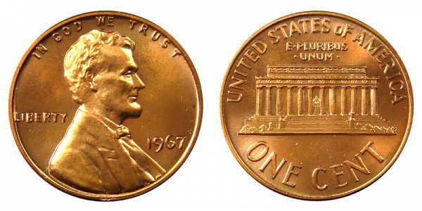 1967 Lincoln Memorial Cent Penny