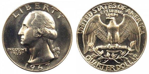 1967 Washington Quarter
