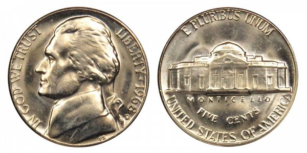 1968 D Jefferson Nickel