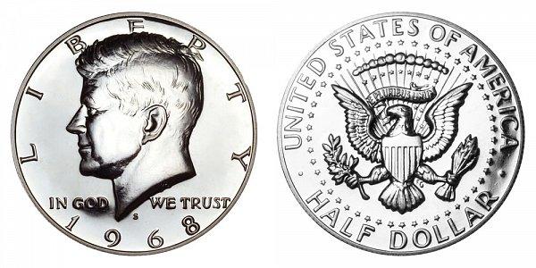 1968 S Silver Kennedy Half Dollar Proof