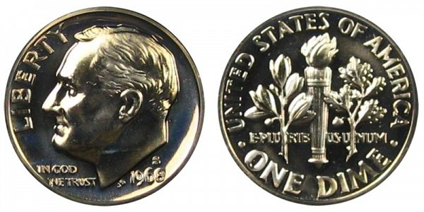 1968 S Roosevelt Dime Proof