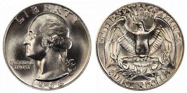 1968 Washington Quarter