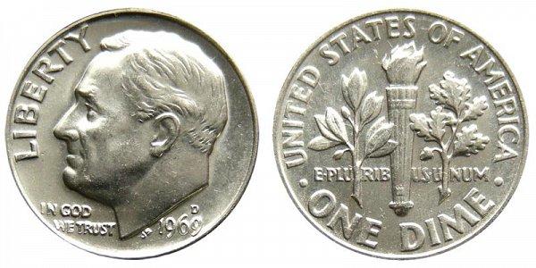 1969 D Roosevelt Dime