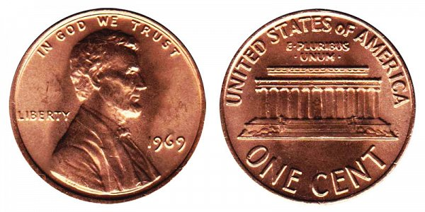 1969 Lincoln Memorial Cent Penny