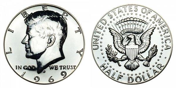 1969 S Silver Kennedy Half Dollar Proof