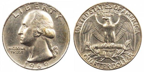 1969 Washington Quarter