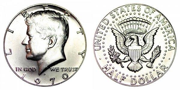 1970 D Silver Kennedy Half Dollar