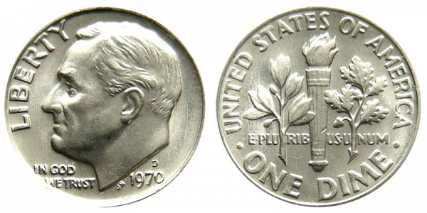 1970 D Roosevelt Dime
