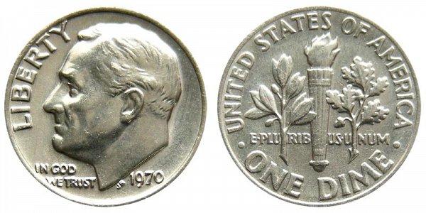 1970 Roosevelt Dime