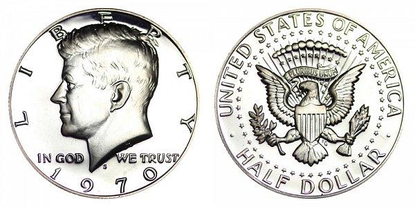 1970 S Silver Kennedy Half Dollar Proof