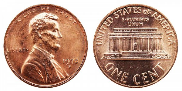 1970 S Small Date Lincoln Memorial Cent Penny