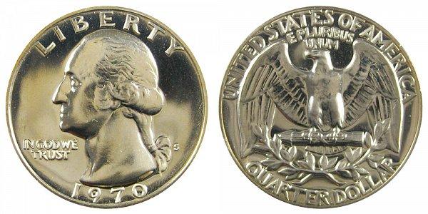 1970 S Washington Quarter Proof
