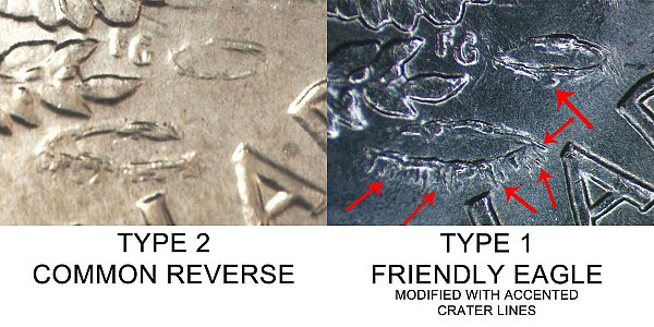 1971 D Type 1 vs Type 2 Crater Lines - Difference and Comparison