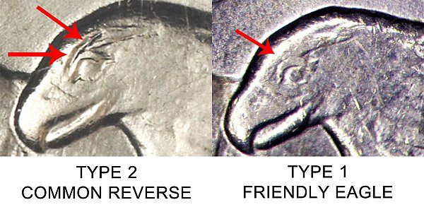 1971 D Common Eagle vs Friendly Eagle - Difference and Comparison