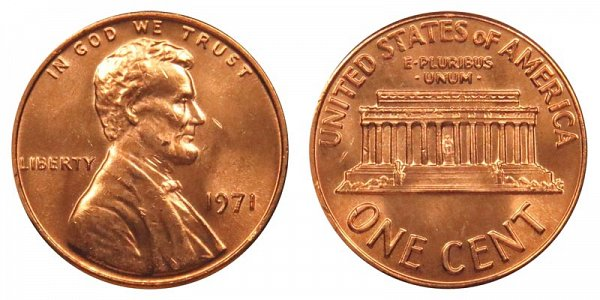 1971 Lincoln Memorial Cent Penny
