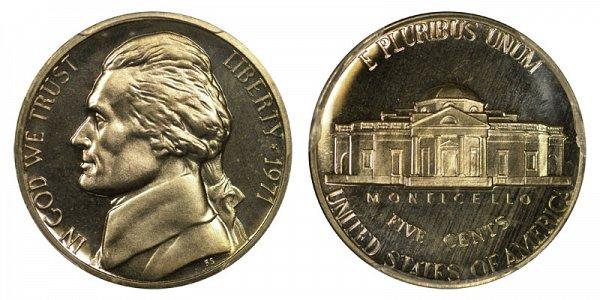 1971 No S Jefferson Nickel