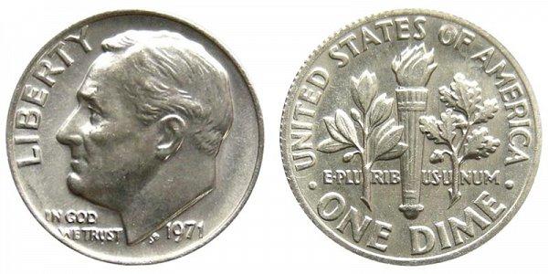 1971 Roosevelt Dime