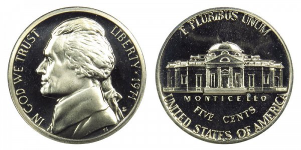 1971 S Jefferson Nickel Proof