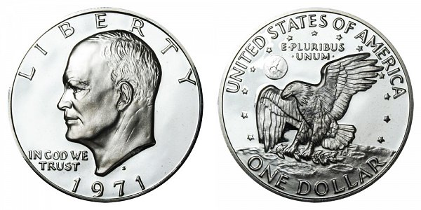 1971 S Silver Proof Eisenhower Dollar