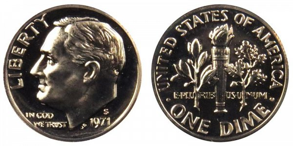 1971 S Roosevelt Dime Proof