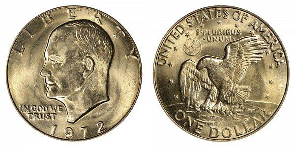 1972 D Eisenhower Ike Dollar