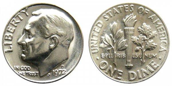 1972 D Roosevelt Dime